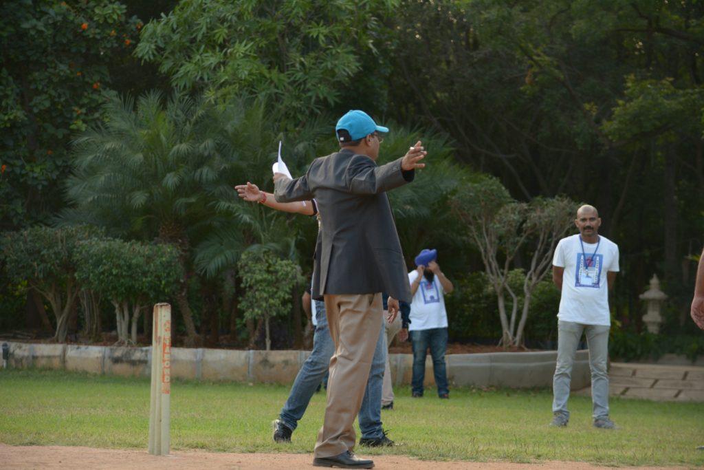 Umpire declaring a wild allegation.