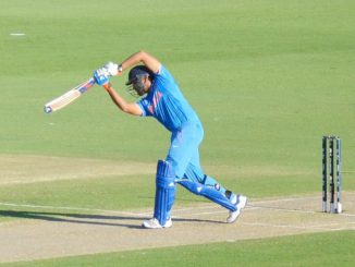 Rohit Sharma batting for India against United Arab Emirates during their 2015 Cricket World Cup match at the WACA Ground in Perth, Australia.