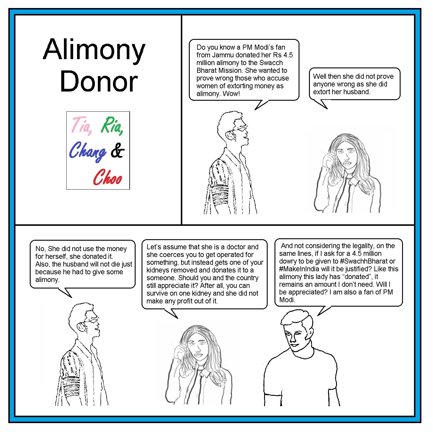 Alimony Donor – Lifenstory