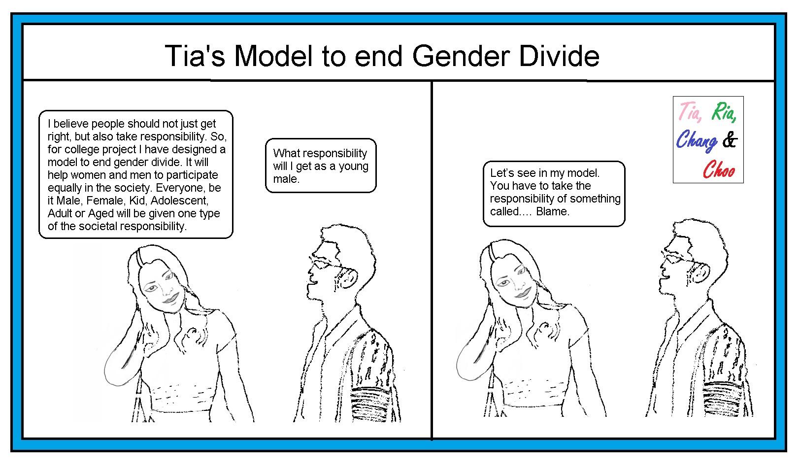 Tia's model to end Gender Divide