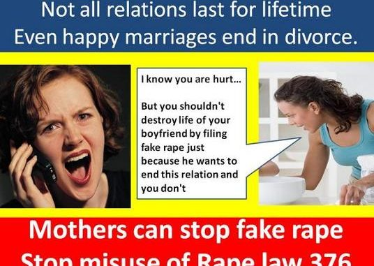 Breakup with girlfriend is called rape in India