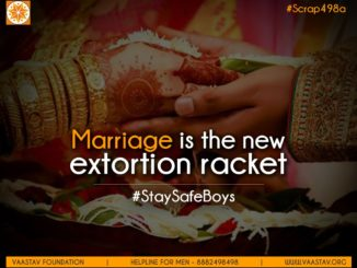 Marriage is extortion racket