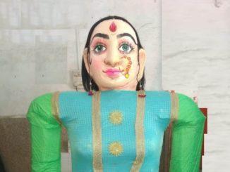 Evil women effigy in Marbat Rally